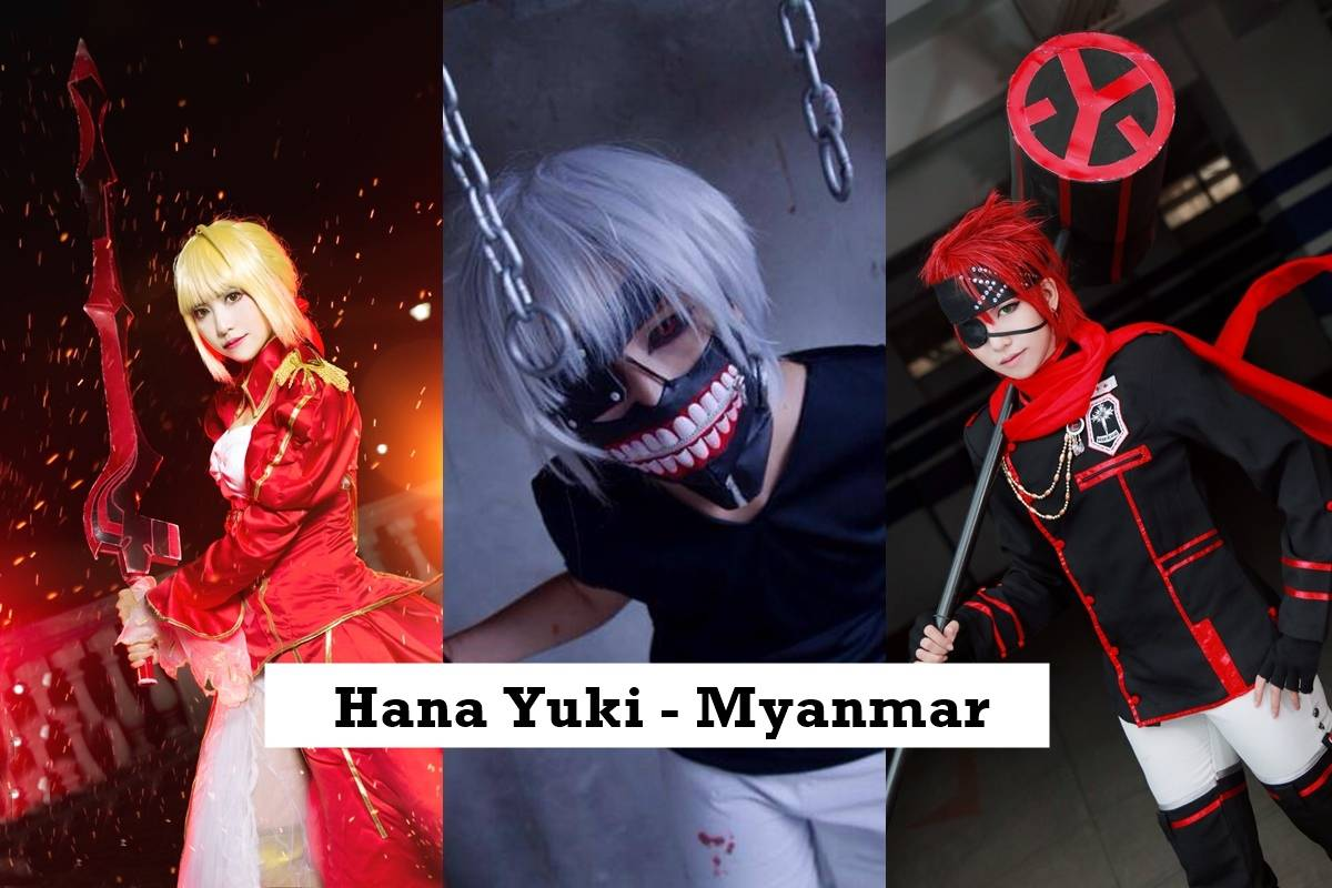 D Gray Man, Saber, and Tokyo Ghoul Cosplay by Hana Yuki - Myanmar Cosplayer